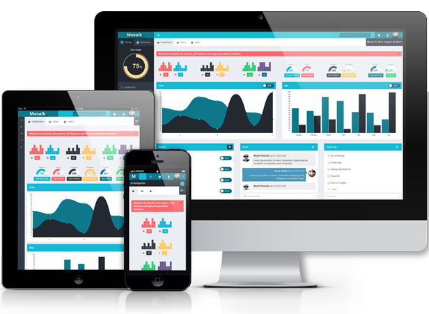download free Mosaik - Responsive Admin Template
